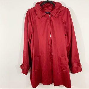Womens Red Dennis by Dennis Basso Jacket sz XL